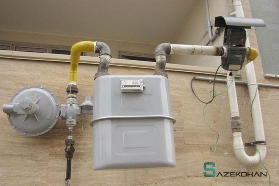خدمات گاز - خانه - سازه کهن - نمونه کار لوله کشی سازه کهن 3